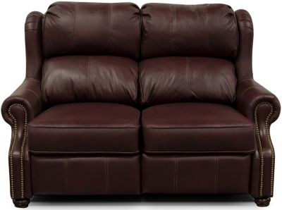 England Lucia Rosetta 100% Leather Power Loveseat