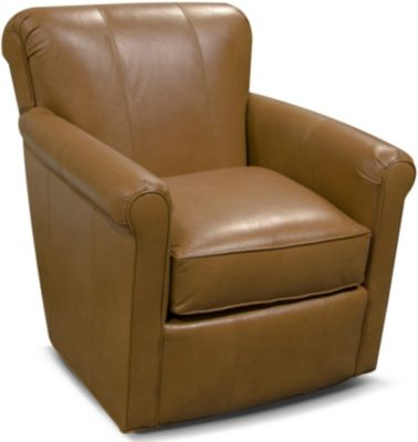 England Lillian 100% Leather Swivel Chair