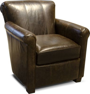 England Lillian 100% Leather Accent Chair