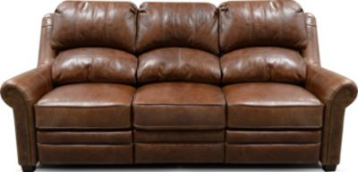 England Lanie Leather Power Sofa with Nailhead Trim