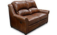 England Lanie 100% Leather Power Reclining Loveseat