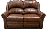 England Lanie Leather Power Loveseat with Nailhead Trim
