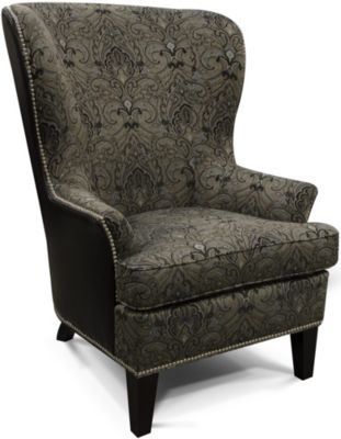 England Leif Leather Wing Chair
