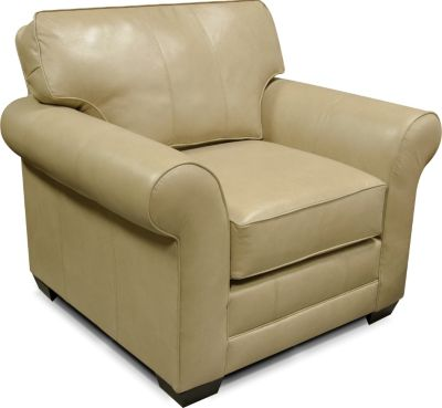 England Landry Cream Leather Accent Chair