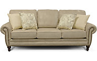 England Leight Cream Leather Sofa