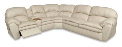 England Oakland Leather Reclining Sleeper Sectional
