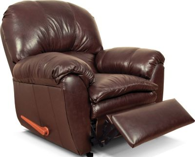 England Oakland Brown Leather Rocker Recliner