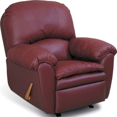 England Oakland Red Leather Rocker Recliner