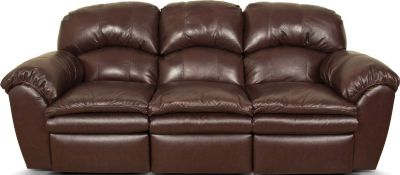 England Oakland Brown Leather Reclining Sofa