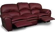 England Oakland Red Leather Reclining Sofa