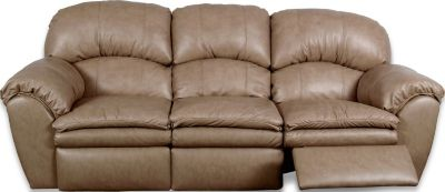 England Oakland Cream Leather Reclining Sofa