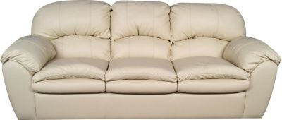 England Oakland Cream Leather Sofa
