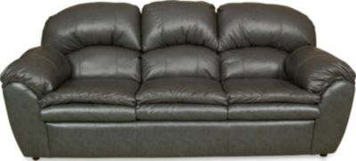 England Oakland Gray Leather Sofa