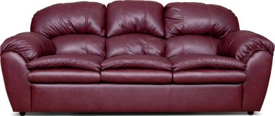 England Oakland Red Leather Sofa