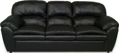 England Oakland Black Leather Sofa