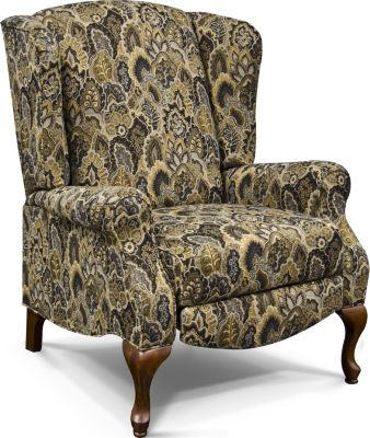 England Martha Floral Press-Back Wing Chair