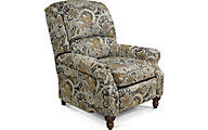 England Frances Floral Press-Back Recliner