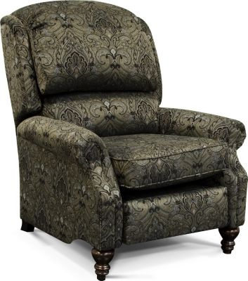 England Frances Damask Press-Back Recliner