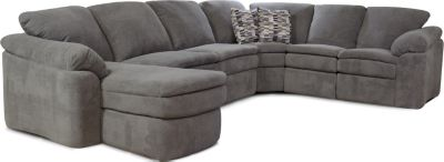 England Seneca Falls Gray 5-Piece Reclining Sectional