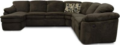 England Seneca Falls Espresso 5-Piece Power Sectional