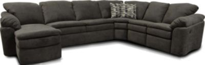 England Seneca Falls Smoke 5-Piece Power Sectional