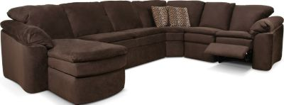 England Seneca Falls Brown 5-Piece Reclining Sectional