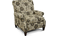 England Highland Floral Press-Back Recliner