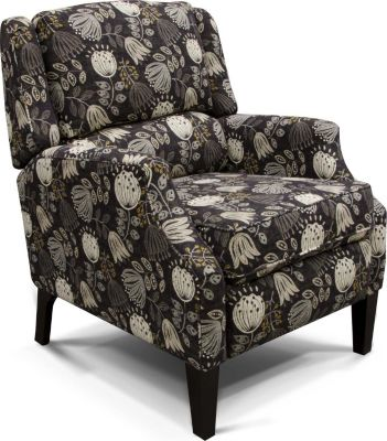 England Turner Floral Press-Back Recliner