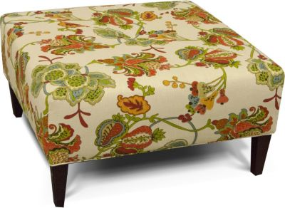 England Steele Botanical Cocktail Ottoman