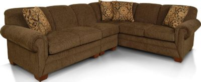 England Monroe Brown 3-Piece Sectional