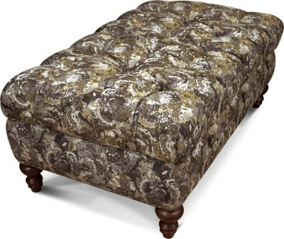 England Allure Abstract Storage Ottoman