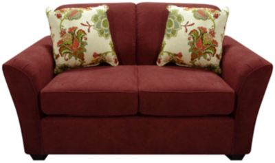 England Smyrna Red Loveseat
