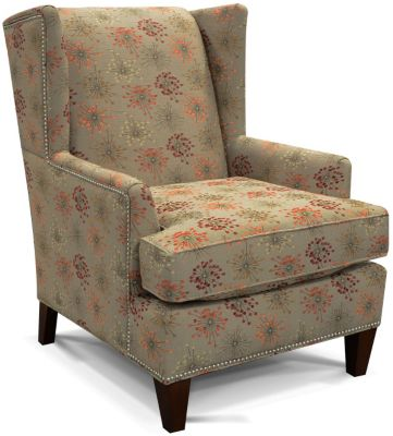 England Reynolds Floral Wing Chair