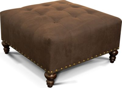 England Hemsworth Brown Cocktail Ottoman