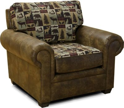 England Jaden Checkered Cabin Accent Chair