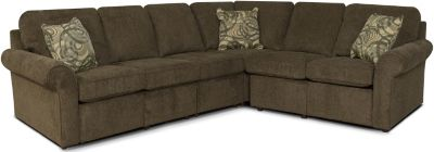 England Malibu Brown 4-Piece Power Reclining Sectional