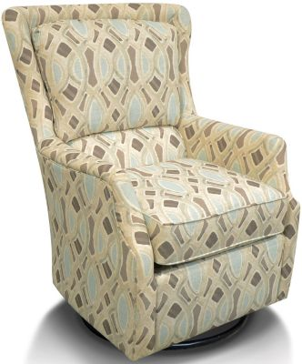 England Loren Geometric Swivel Chair