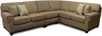 England Yonts Brown 3-Piece Sectional