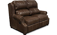 England Lucia 100% Leather Power Reclining Loveseat