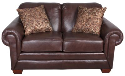 England Leah Leather Loveseat