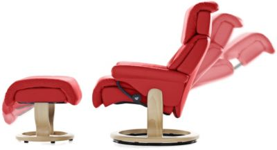 Ekornes Red Reclining Chair