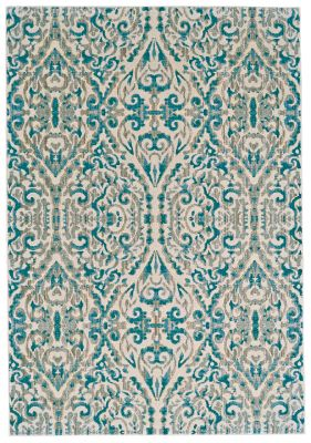 Feizy Keats Turquoise 5' x 8'