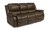 Flexsteel Zandra Leather Power Reclining Sofa