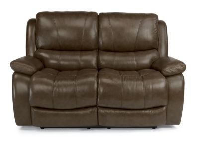 Flexsteel Zandra Leather Power Reclining Loveseat