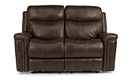 Flexsteel Grover Leather Power Reclining Loveseat