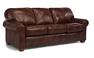 Flexsteel Thornton 100% Leather Queen Sleeper
