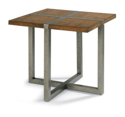 Flexsteel Trestle Lamp Table