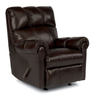 Flexsteel McGee 100% Leather Rocker Recliner
