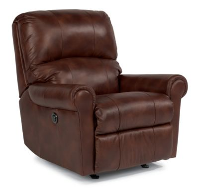 Flexsteel Markham Leather Power Rocker Recliner