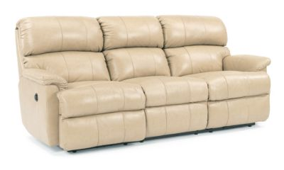 Flexsteel Chicago Power Reclining Sofa- 100% Ltr